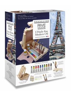 Sennelier kufřík olejové barvy Rive Gouche 10 x 21 ml + příslušenství