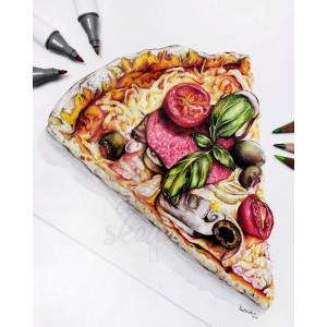 Pizza přímo k nakousnutí, co myslíte? 🤤🔥 Krásná práce naší @claires.sketchx 😍 . . . #art #illustration #artwork #drawing #drawings #handdrawn #dailydrawing #drawingart #drawingsketch #draweveryday #drawer #sketchbookdrawing #artdrawing #artistic #worldofpencils #pasteldrawing #womenwhodraw #girldrawing #sketchdrawing #drawing #handdrawing #realisticdrawing #pastelart #provytvarnikycz #provytvarniky #pizza #pizzahut #handmade