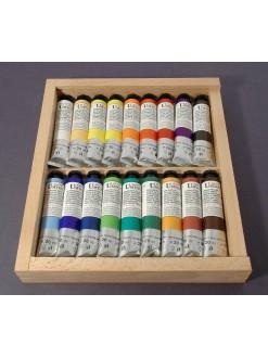 UMTON Dřevo sada olejových barev s plexi 18 x 20 ml
