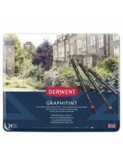 Derwent Graphitint - sada barevných grafitových tužek 24 ks