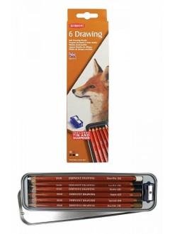 Derwent Drawing - sada uměleckých pastelek 6 ks