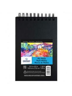 Canson ArtBook Mix Media,40 listů,225g,14x21,6cm