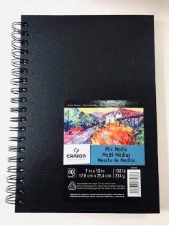 Canson ArtBook Mix Media,40 listů,225g,17,8x25,4 cm