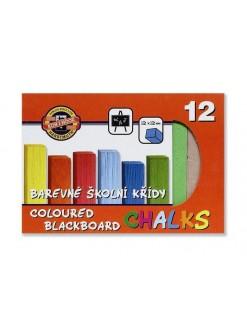 KOH-I-NOOR křídy školní barevné 12 kusů