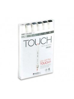 TOUCH - Brush grey colors, 6 barev