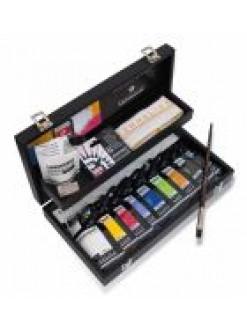 Sennelier kufřík akrylové barvy Abstrakt 9x120ml + příslušenství