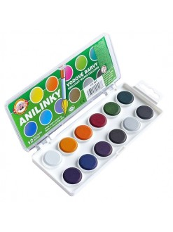 KOH-I-NOOR Anilinky vodové barvy, 12 barev