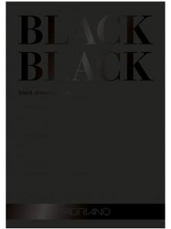 Fabriano Black blok 24 x 32 cm, 300g/m2, 20 listů, černý papír, lepená vazba