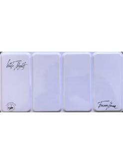 White Nights akvarelové barvy MetalBox fialový box 35 ks
