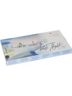 WHITE NIGHTS akvarelový set, 24 barev v plastovém boxu