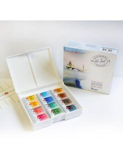 WHITE NIGHTS akvarelový set 12 barev pánvičky 2,5 ml