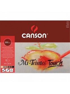 Canson Mi Teintes Touch skicák - 4 barvy,12 listů,350g,24x32cm