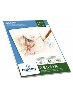 Canson skicák lepený Dessin 20 archů, 160g, A4