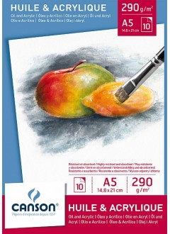 Canson skicák na olejové a akrylové barvy 10 archů, 290g, A4