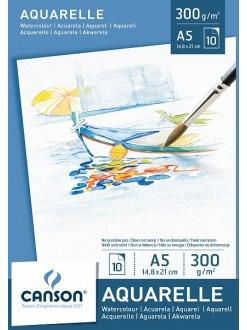 Canson skicák aquarellový 10 listů, 300g, A5