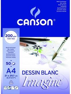 Canson Imagine skicák lepený 50 listů, 200g, A4