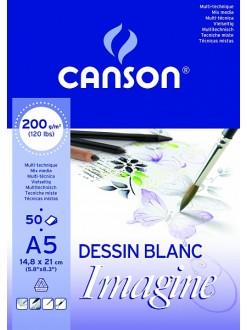 Canson Imagine skicák lepený 50 listů, 200g, A5