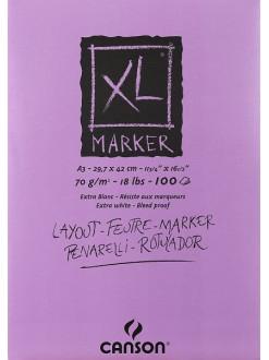Canson XL Marker blok (bílý, A3, 100 archů, 70 g)