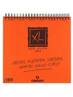 Canson XL Skicák krouž.vazba(krém.30×30cm,120 archů)