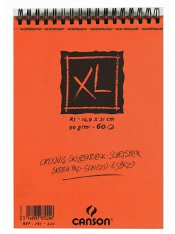 Canson XL Skicák v krouž.vazbě(krémový,A5,60archů)