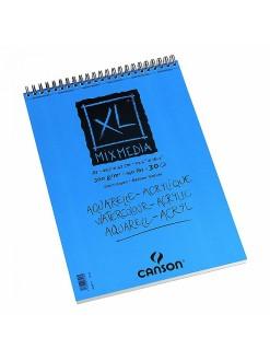 Canson XL Mix Media skicák krouž.vazba(30archů,bílý,300g,A3)