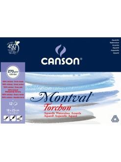 Canson Montval lepený 18x25cm, 12l, 270g