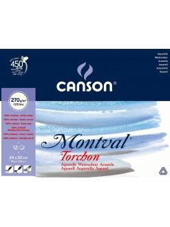 Canson Montval lepený 24x32 cm, 12l, 270g