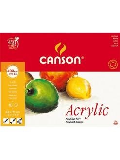 Canson Akryl blok 10 listů, 32×41 cm, 400 g
