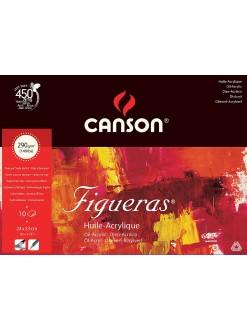 Canson Figueras skicák, lep.na krátké straně 10 listů,33×24cm,290g