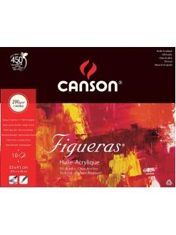 Canson Figueras skicák,lep. na krátké straně 10 listů,33×41cm,290g