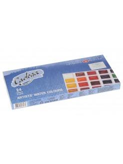 LADOGA akvarelový set ,24 barev v miskách
