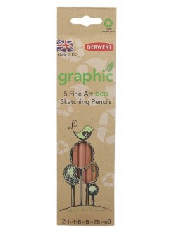 Derwent Graphic ECO Sketching - sada grafitových tužek 5 ks
