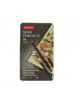 Derwent Tinted Charcoal sada tónovaných uhlů 12 ks