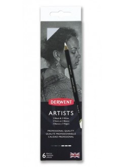Derwent Artist sada 6 ks Black & White
