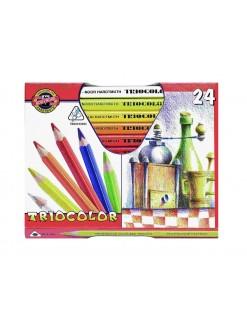 KOH-I-NOOR trojhranné pastelky tricolor, 24 kusů