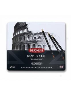 Derwent Graphic - sada grafitových tužek 24 ks