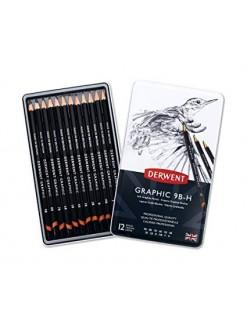 Derwent Graphic Soft - sada grafitových tužek 12 ks