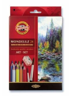 KOH-I-NOOR Mondeluz pastelky akvarelové, 24 kusů