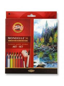 KOH-I-NOOR Mondeluz pastelky akvarelové, 36 kusů