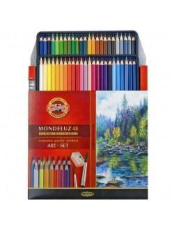 KOH-I-NOOR Mondeluz pastelky akvarelové, 48 kusů