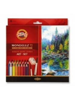 KOH-I-NOOR Mondeluz pastelky akvarelové , 72 kusů
