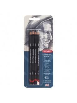 Derwent Charcoal pencil sada 4 ks
