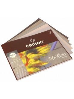 Canson Mi Teintes skicák 30 listů,šedé(5barev),160g,24x32cm
