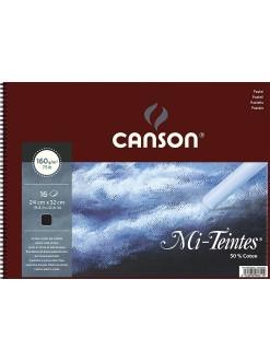Canson Mi Teintes album kr.vazba,16 listů,černá,160g,24x32 cm