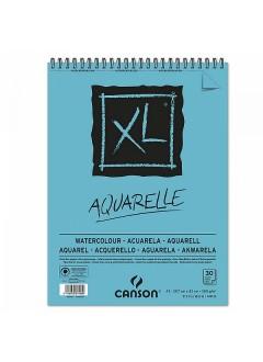 Canson XL Aquarelle skicák,kroužková vaz.(300g,A3,30archů)