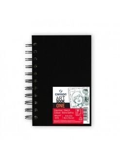 Canson Art book one 10,2x15,2 cm, 80 listů, 100g/m2, tvrdé desky, kroužková vazba