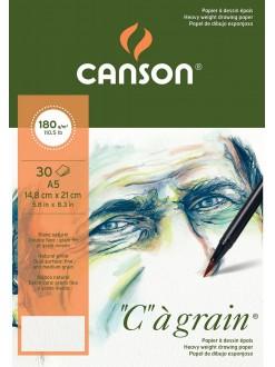 Canson C a grain skicák kroužková vazba A5, 30 listů, 180g, 14,8 x 21 cm