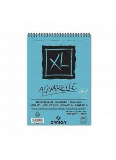 Canson XL Aquarelle skicák,kroužková vaz.(300g,A5,20archů)