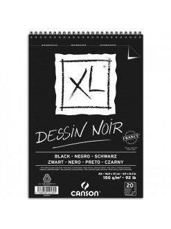 Canson XL černý kroužk. vazba (150g, A5, 20 archů)