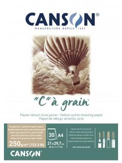 Canson C a grain skicák lepený A4 30 listů, 250g/m2, 21x29,7cm, okrový